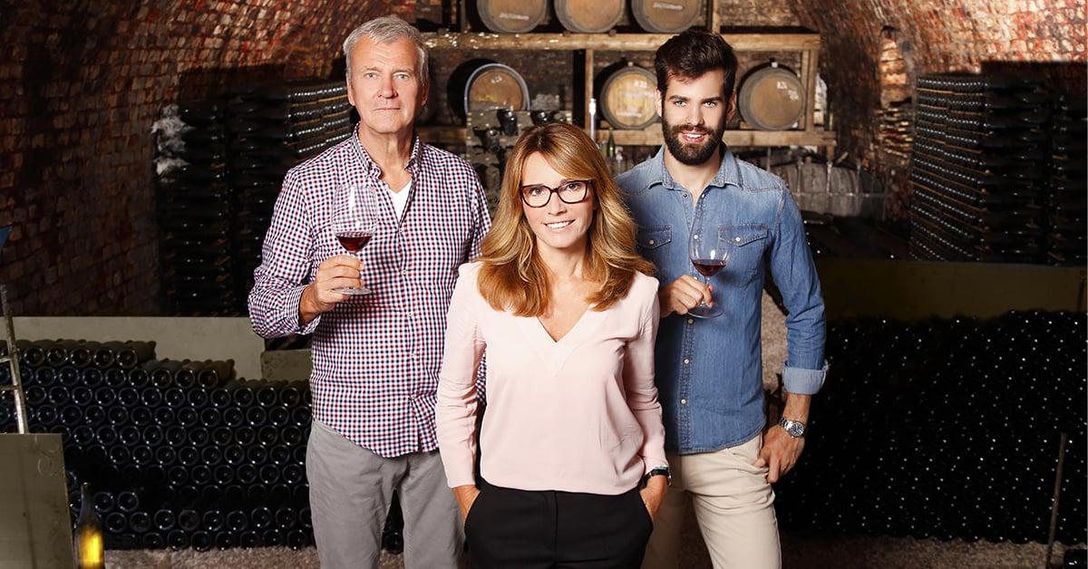 Familia propietaria bottega vino
