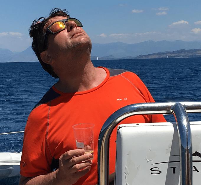 Uberto Valsangiacomo in barca_2